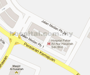 An-Nur Specialist Hospital Location Map