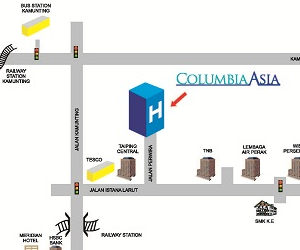 Columbia Asia Hospital Taiping Location Map