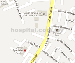 Damai Specialist Centre Location Map