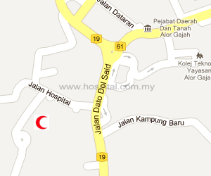 Hospital Alor Gajah Location Map