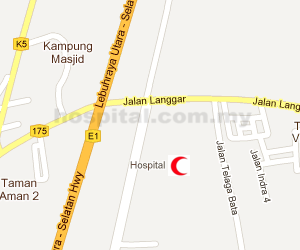Hospital Sultanah Bahiyah (Alor Setar) Location Map
