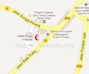 Hospital Balik Pulau Location Map
