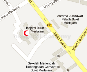Hospital Bukit Mertajam Location Map