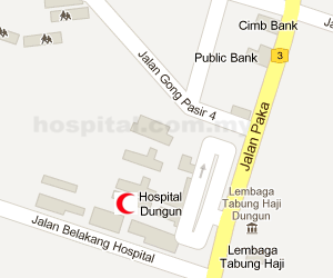Hospital Dungun Location Map