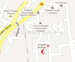 Hospital Jerantut Location Map