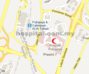 Hospital Putrajaya Location Map