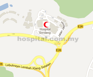 Hospital Serdang Location Map