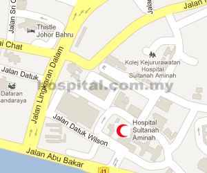 Hospital Sultanah Aminah Location Map