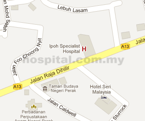 KPJ Ipoh Specialist Hospital Location Map