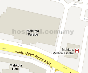 Mahkota Medical Centre Location Map
