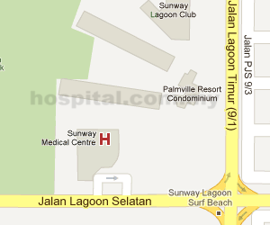 Sunway Medical Centre Location Map